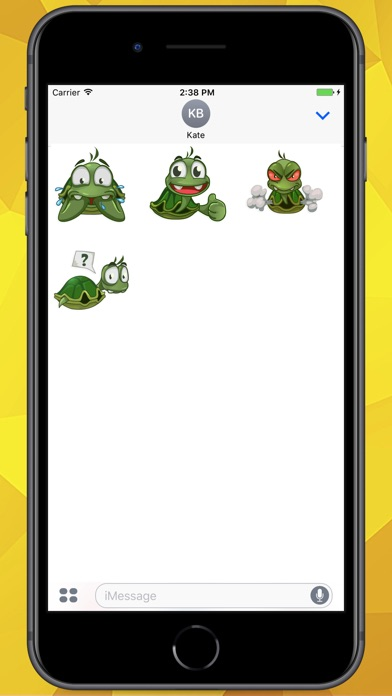 Screenshot for Sad Turtle Joe Stickers in Colombia App Store
