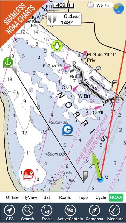 Miami to Key West GPS HD Chart