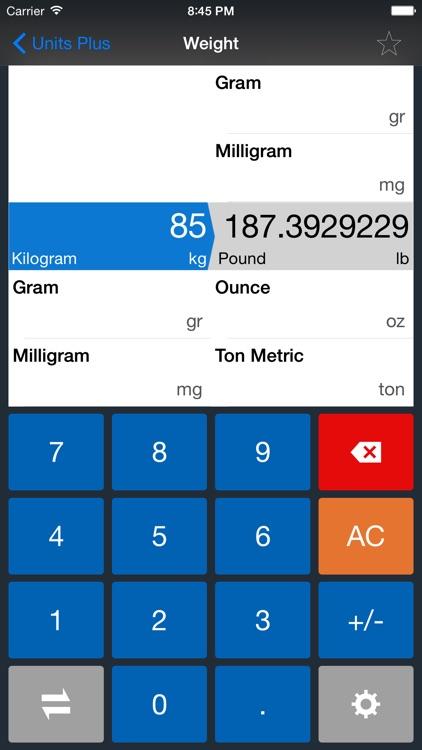 Units Plus Converter screenshot-3