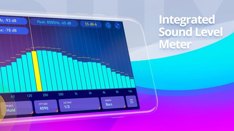 Audio spectrum analyzer EQ Rta screenshot-4