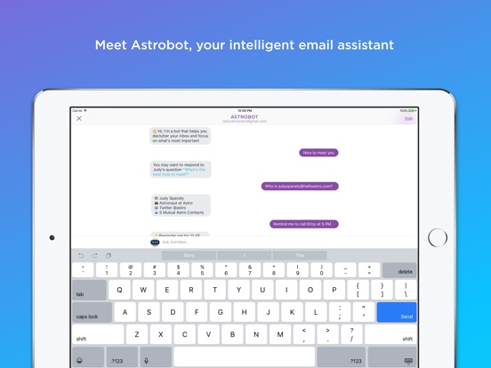 Astro: AI meets Email Screenshot