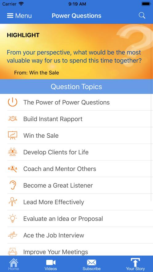 Power Questions App 截图