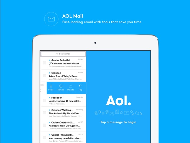 How do i add aol mail to my iphone 8