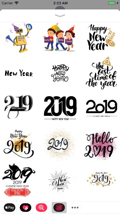 Happy New Year Wishes Sticker screenshot three