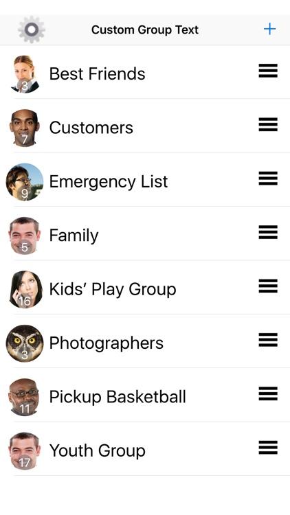 Custom Group Text