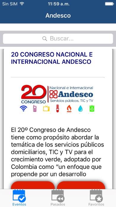 Screenshot of Andesco App