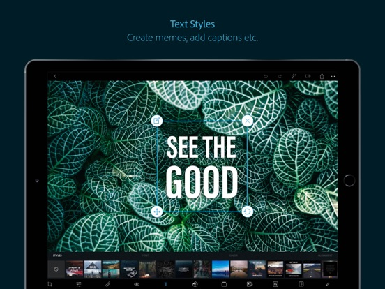 Adobe Photoshop Express iPad