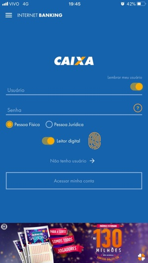 CAIXA Screenshot