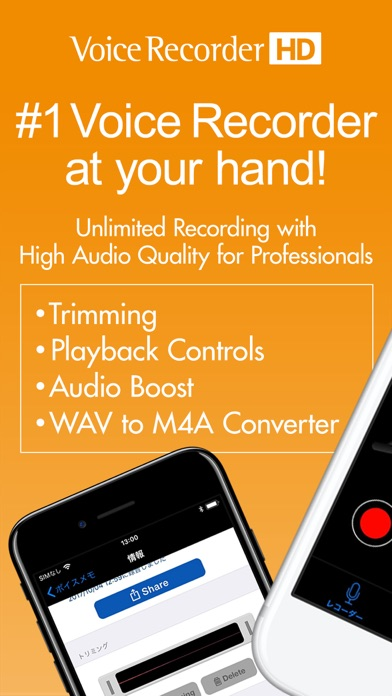 Voice Recorder Hd review screenshots