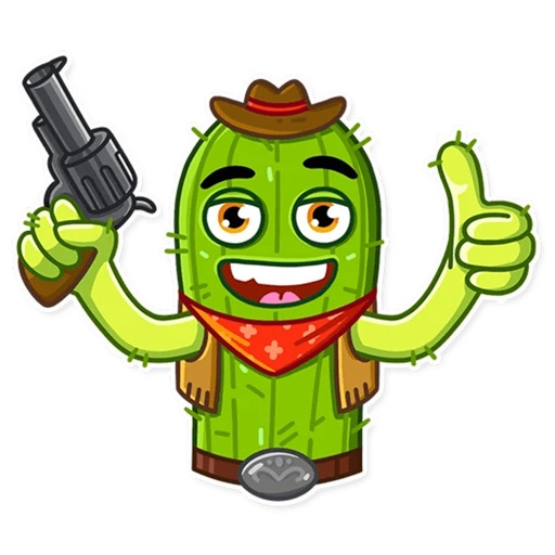 Cowboy Cactus stickers pack