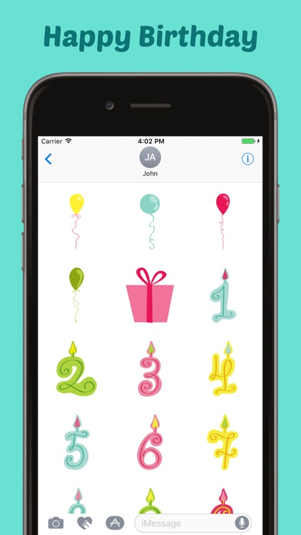 Happy Birthday Stickers Pack for iMessage screenshot-3