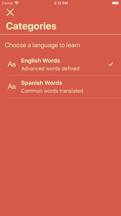 Vocabulary - Learn New Words Screenshots