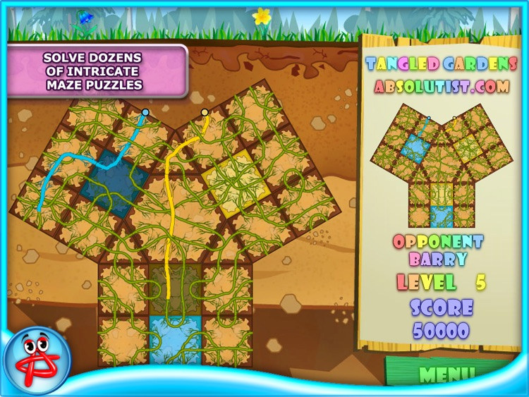 Tangled Gardens: Pipes Puzzle screenshot-4