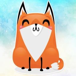 Crazy Fox! Stickers