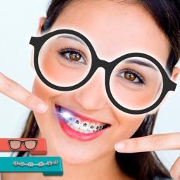 Braces & Nerd Glasses Stickers