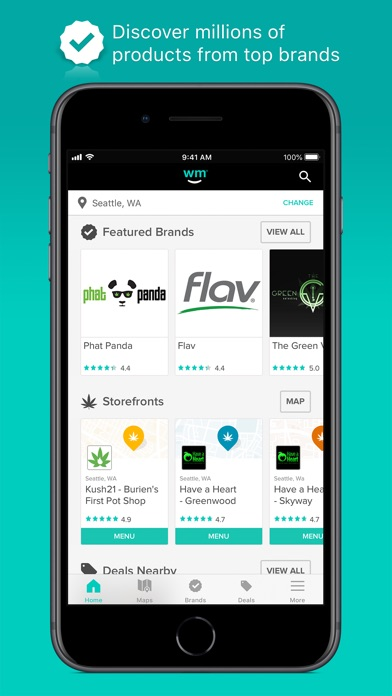 Weedmaps review screenshots