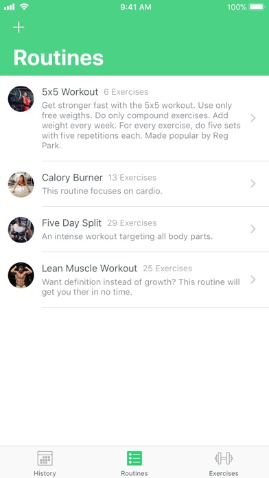 Fitrack Workouts Screenshot