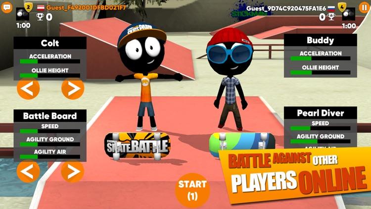 Stickman Skate Battle screenshot-3