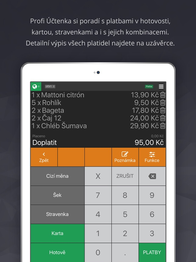 Profi Uctenka V App Storu