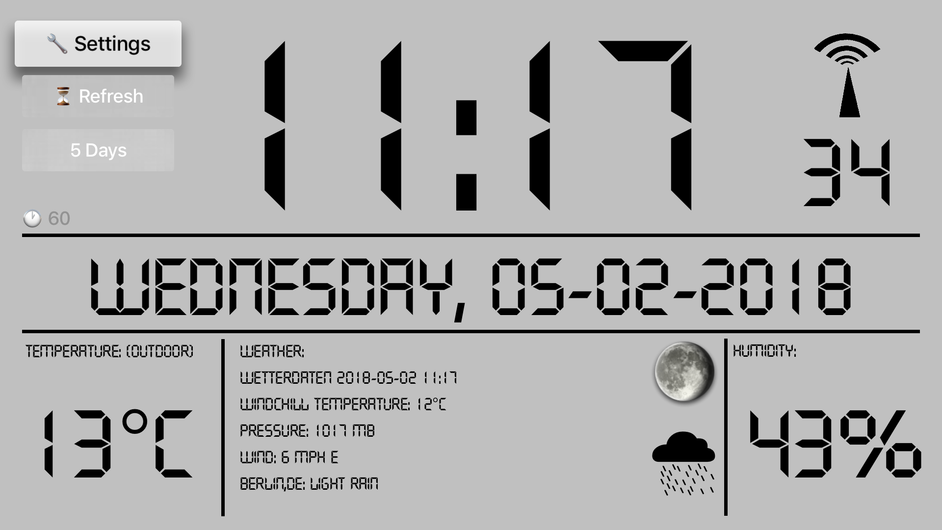 LCD Weather Clock screenshot 1