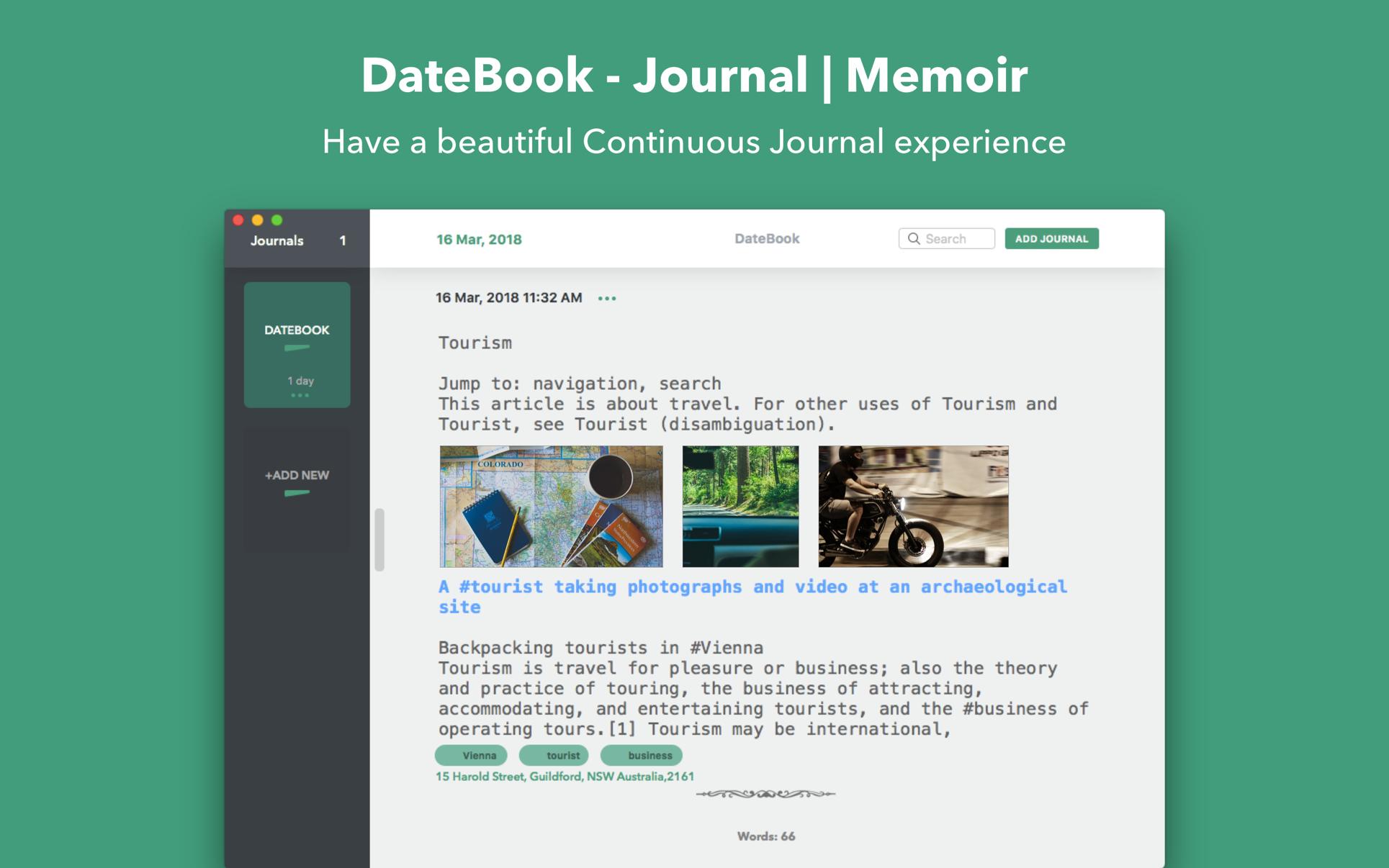 DateBook - Journal   Memoir