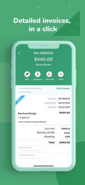 Invoice Time Tracking Zoho On The App Store