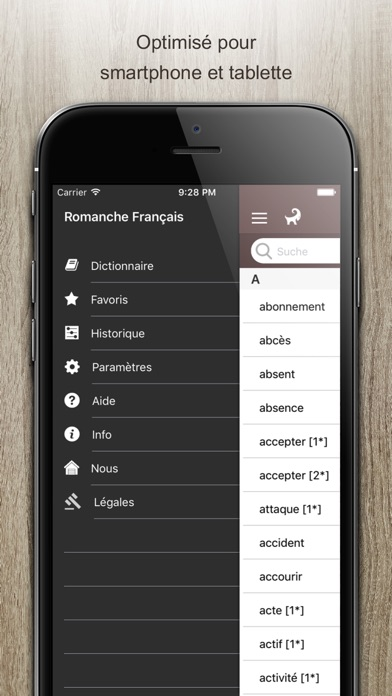 Screenshot for Dictionnaire Romanche Francais in Brazil App Store