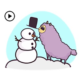 Animated Cute Llama in Winter