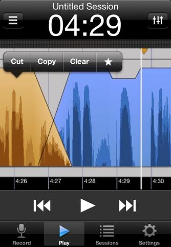 Screenshot of Hindenburg Field Recorder Lite