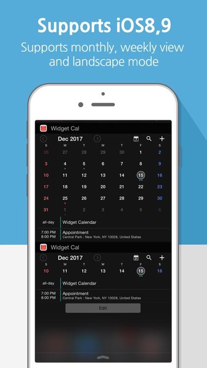 Widget Calendar : Easy&Simple screenshot-4