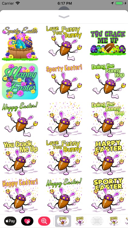 Easter Football Stickers