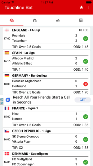 Touchline Bet (Betting Tips) on the App Store