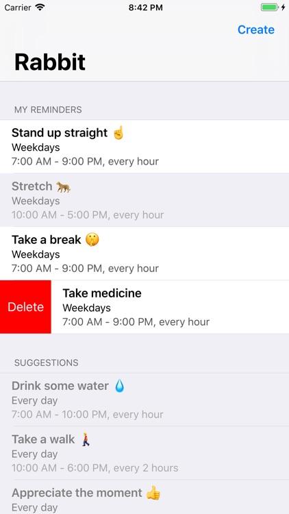 Rabbit - Habit Reminders screenshot-3