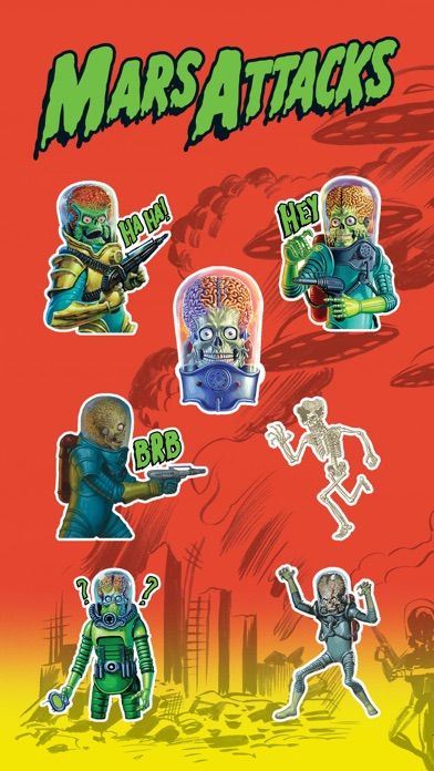 Mars Attacks Stickers