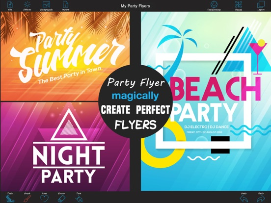 party flyer creator app price drops
