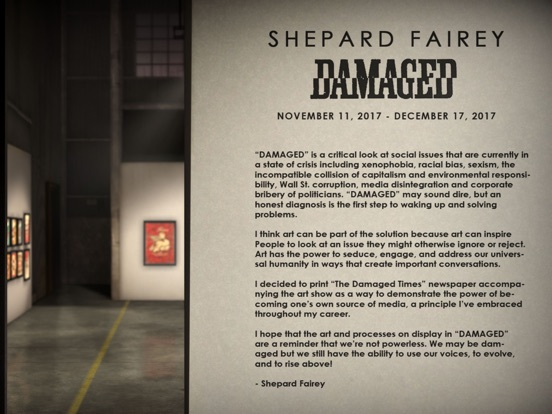 Shepard Fairey AR - Damaged Screenshots