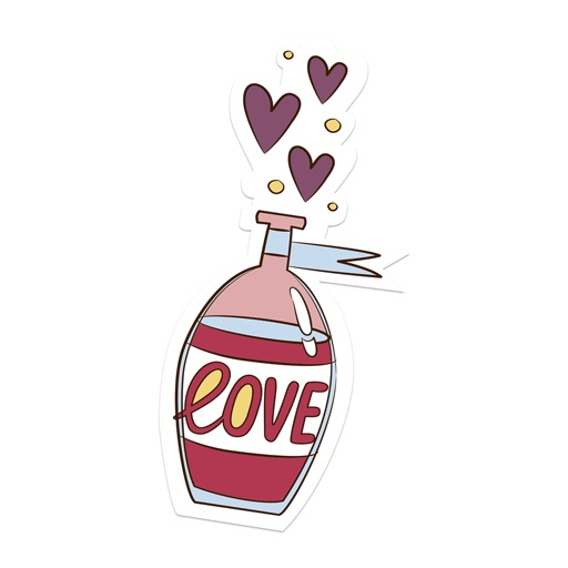 Love Stickers + Quotes - 80's Vintage & Retro Set