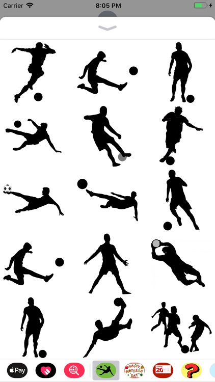 Silhouette Football Stickers
