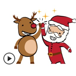Animated Funny Santa Sticker
