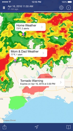 Noaa weather radar forecast on the app store screenshots sciox Image collections