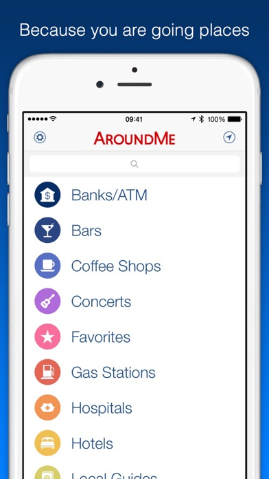 Aroundme review screenshots