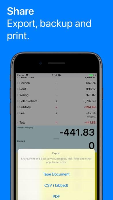 Screenshot #9 for Digits Tape Calculator