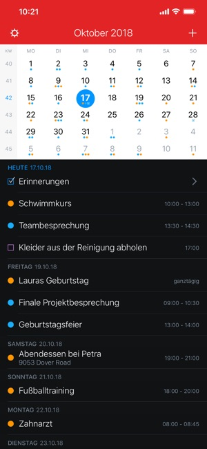 Fantastical 2 für iPhone Screenshot