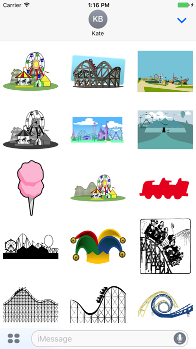 Roller Coaster Theme Park Stickers screenshot two
