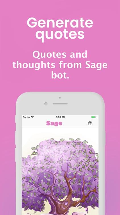 Sage - Quotes Creative bot screenshot-0