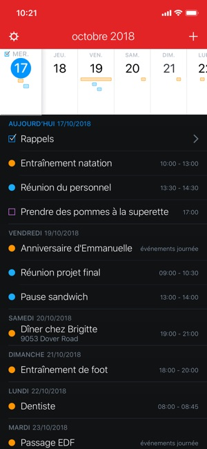 Fantastical 2 pour iPhone Capture d'écran