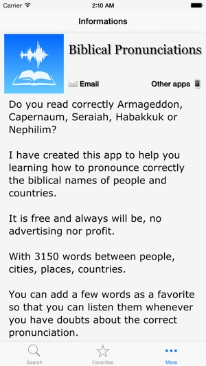 Biblical Pronunciations on the App Store