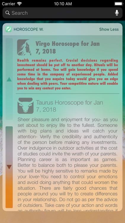 Horoscope Widget