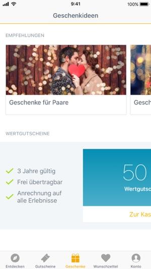 Jochen Schweizer Erlebnisse Screenshot