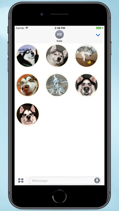 Screenshot for Husky Faces Stickers in Colombia App Store